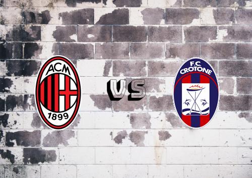 Milan vs Crotone  Resumen y Partido Completo