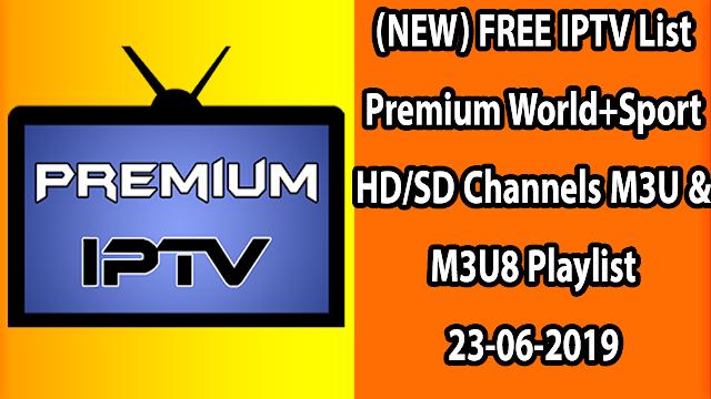 Free Sports M3u Iptv All Channels 23/06/2019