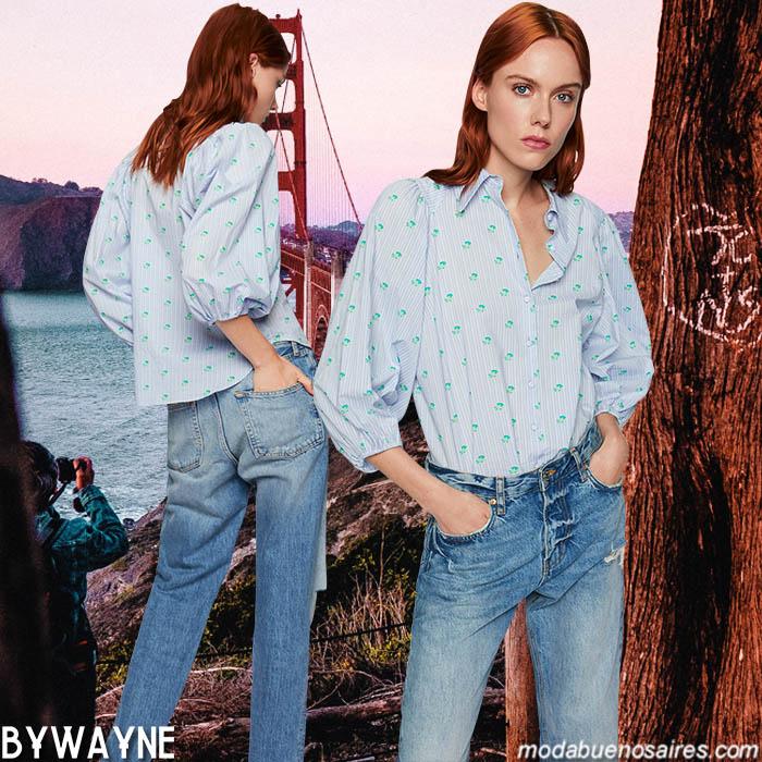 Blusas y camisas mangas globo son tendencia de moda esta primavera verano 2020.