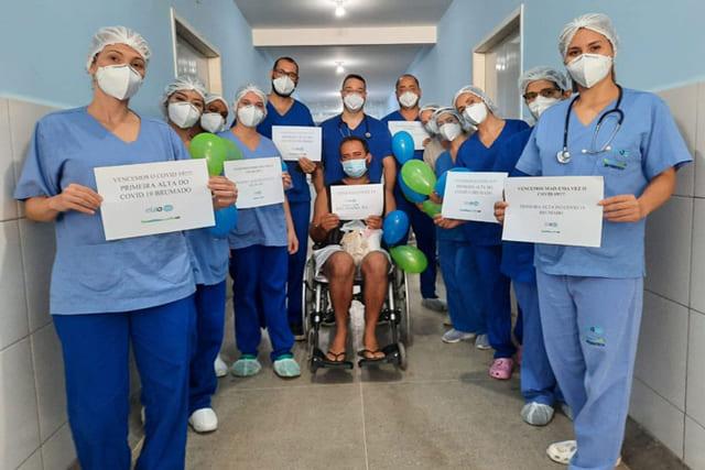 Primeiro paciente recebe alta da UTI Covid em Brumado