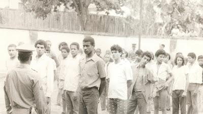Pátio da cadeia de Camanducaia, outubro de 1974. (Foto: Acervo pessoal - Solange Fernandes)