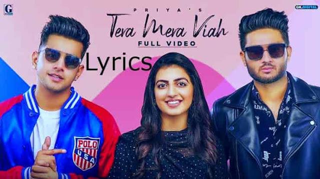 Tera Mera Viah Lyrics Jass Manak MixSingh