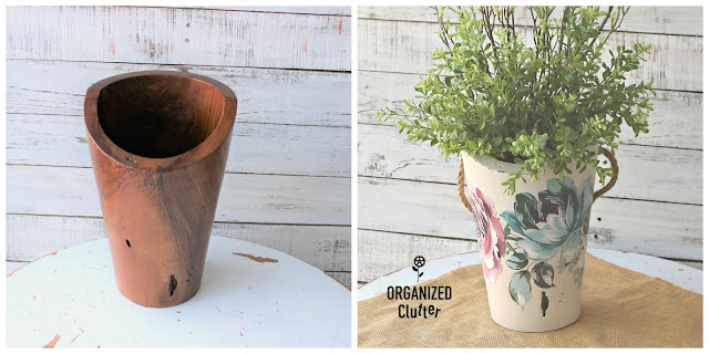 Wooden Vase Upcycle with Redesign Decor Transfers