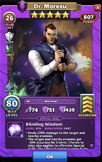 Dr. Moreau hero card - Empires & Puzzles