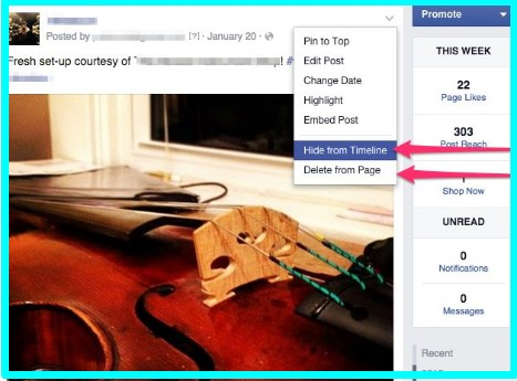 how to hide a post on facebook from one person