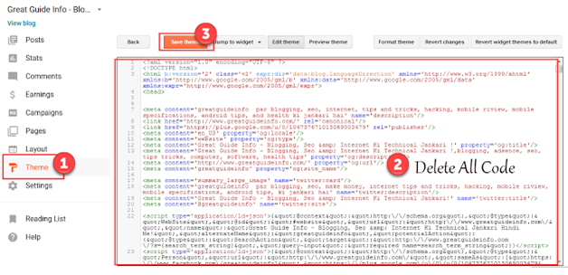 delete all code and past new tamplate xml code