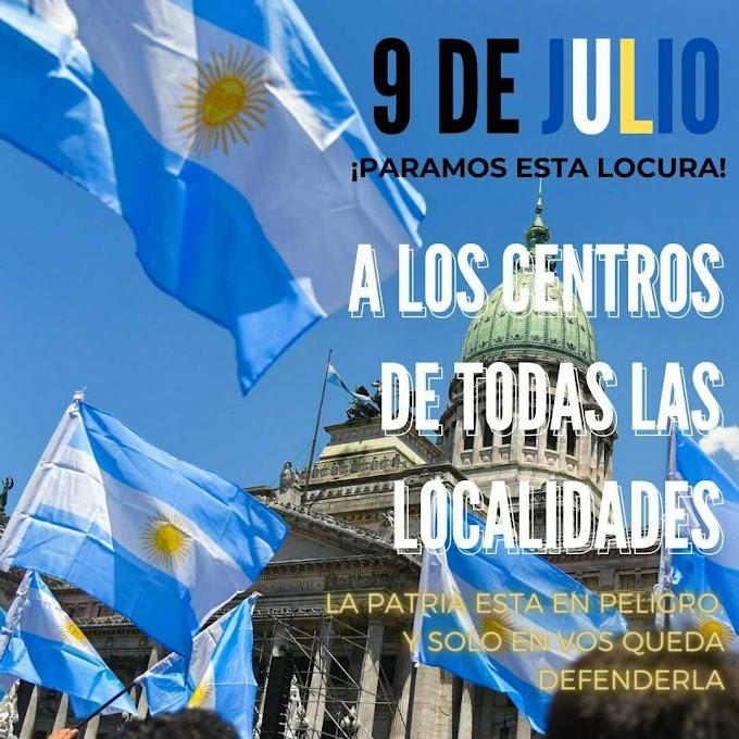 El #9deJulio en las calles se medirá el apoyo o el rechazo al gobierno de Alberto Fernández