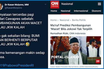 Ma'ruf Prediksi Pembangunan 'Macet' Bila Jokowi Tak Terpilih, Komentar Warganet Mengejutkan