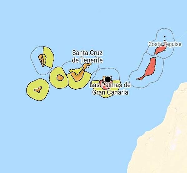 Aviso rojo por altas temperaturas Gran Canaria, Lanzarote y Fuerteventura, miércoles 26 agosto 2020