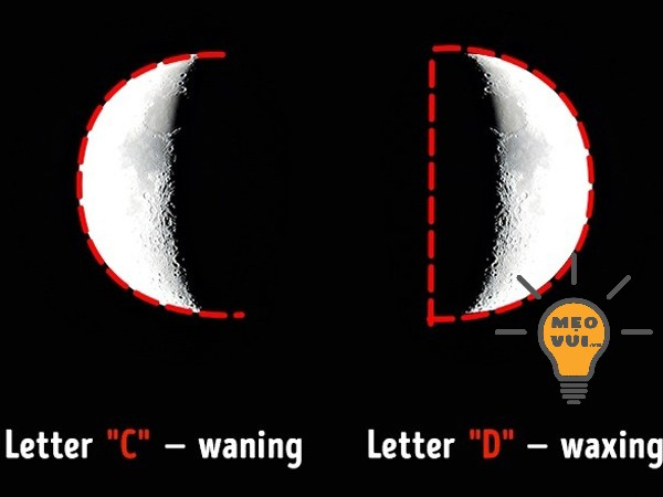 Nhận biết trăng tròn hay trăng khuyết