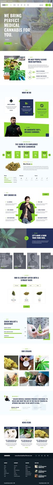 Best Marijuana Website Template