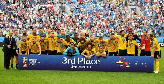 Bélgica bate Inglaterra e fica em 3º lugar na Copa do Mundo