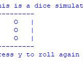 Program Dice Simulator Python