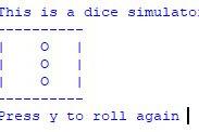 Program Dice Simulator Python