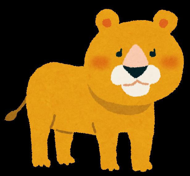 ライオンのイラストメス かわいいフリー素材集 いらすとや