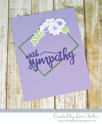 With Sympathy card-designed by Lori Tecler/Inking Aloud-stamps and dies from Avery Elle