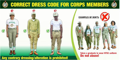 NYSC Correct Dress Code for Corps Members