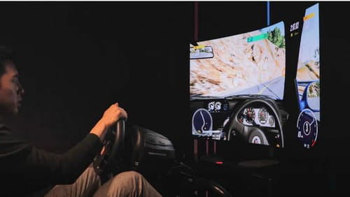 LG showcases OLED TV for bendable games