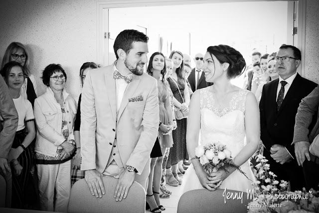 photo le oui des mariés