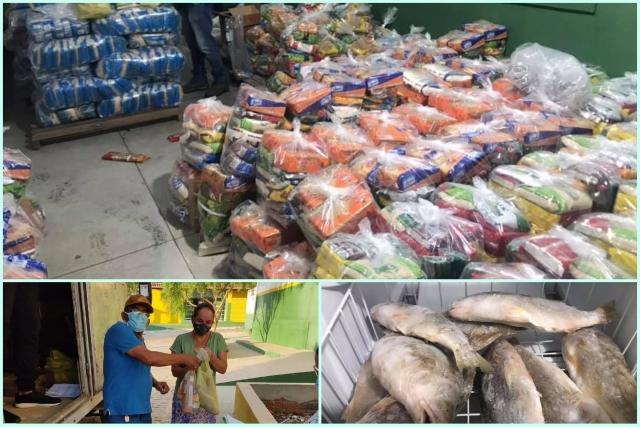 Prefeitura de Iramaia distribui cestas básicas e peixes para famílias carentes