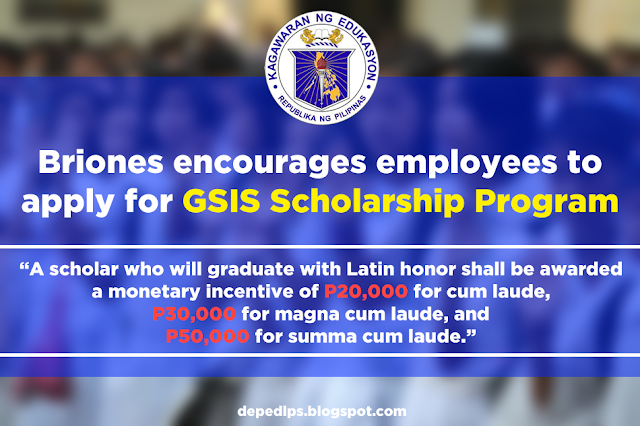 Briones encourages employees to apply for GSIS Scholarship Program
