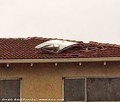 UFO That Crashed into Roof is Door from Small Plane 10-11-13