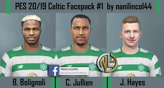 PES 2020/19 Celtic Facepack #1 by nanilincol44