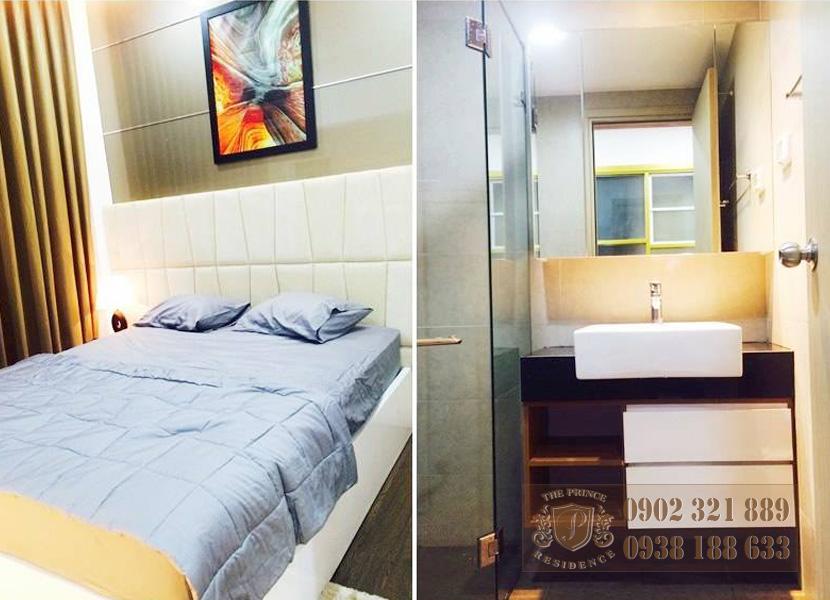 Cho thuê căn hộ The Prince 2 phòng ngủ - giường ngủ