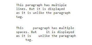 mempertahankan fungsi paragraf menggunakan elemen <pre> pada html