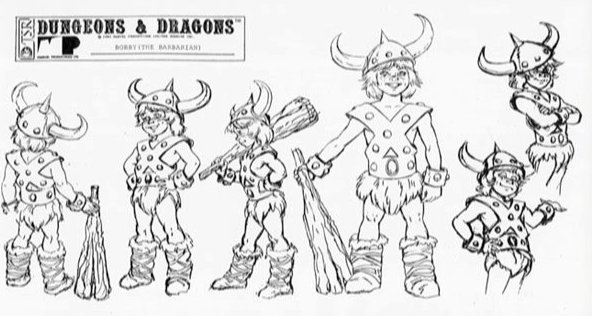 The Dork Review: Dungeons & Dragons Cartoon Model Sheets