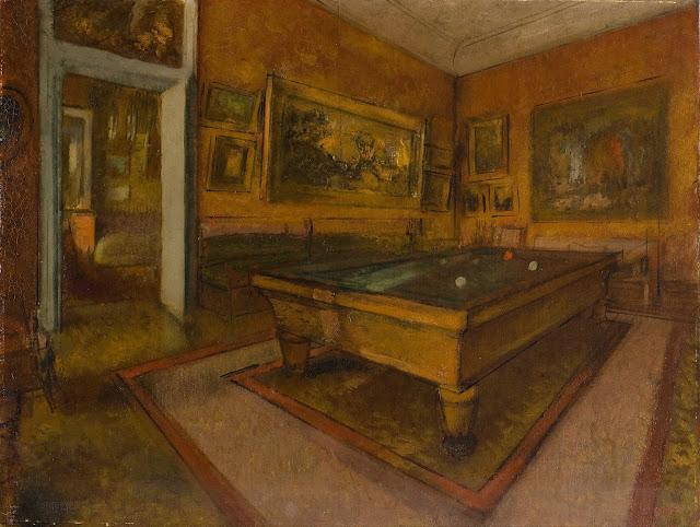 Эдгар Дега - Бильярдная комната в Менила-Юбер (1892)
