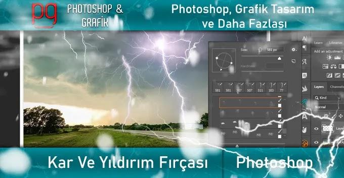 Photoshop Kar ve  Şimşek Fırçaları | Snow and Lightning Brushes