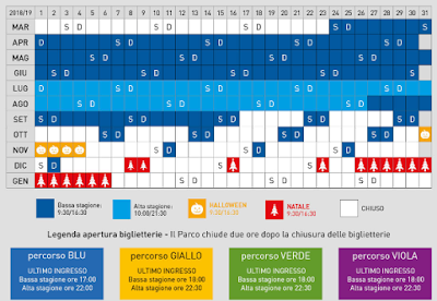 Calendario Acquario di Cattolica 2018