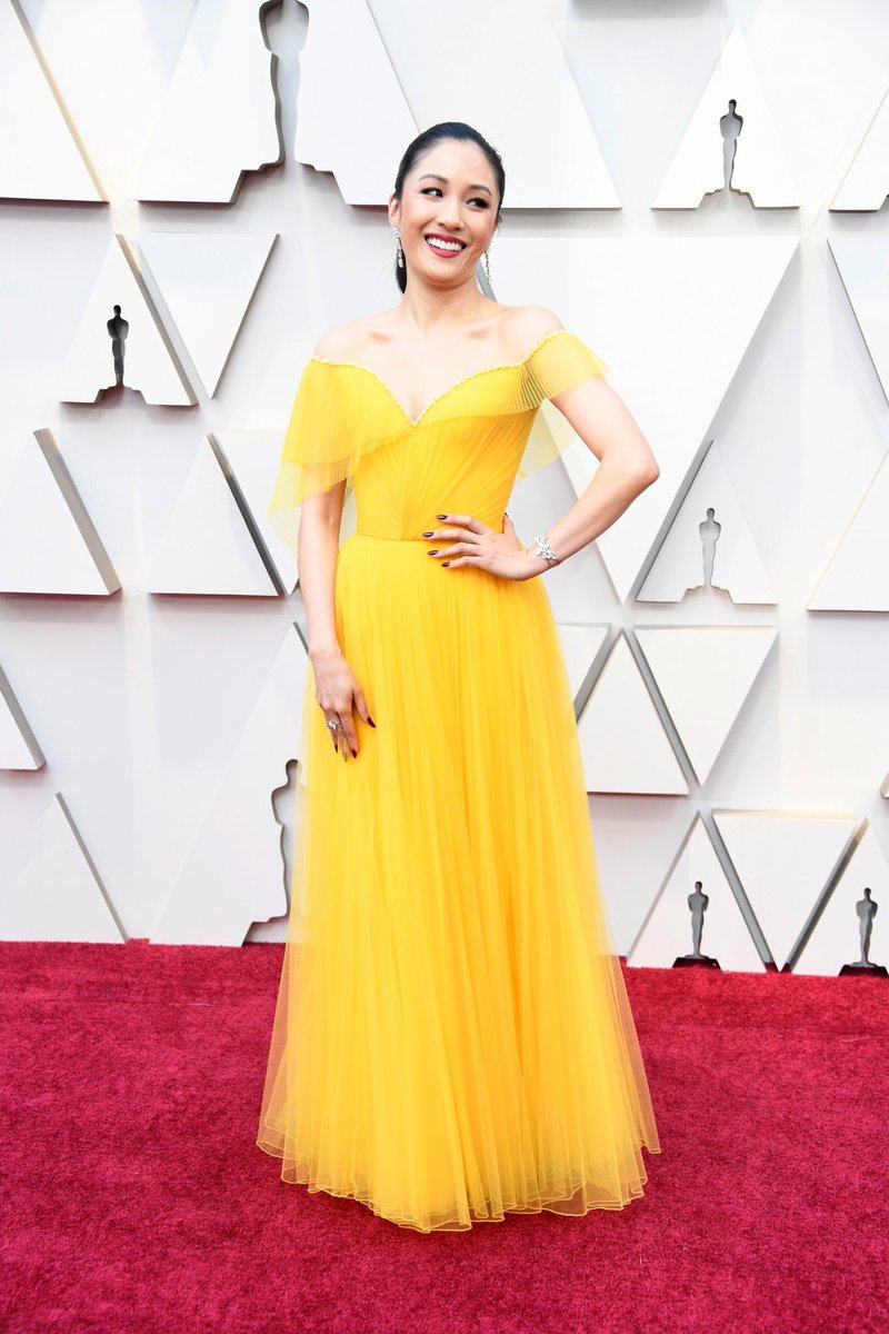 Constance Wu is the Belle of the ball in a gorgeous yellow Versace gown