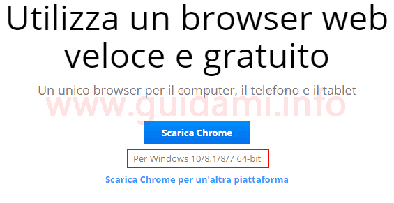 Chrome pagina di download versione 64 bit