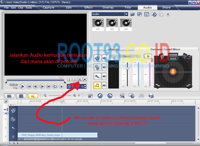 editing audio dengan ulead 2