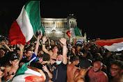 Sedikitnya Seribu Suporter Italia Jajal Kota London untuk menyaksikan Final Euro 2020