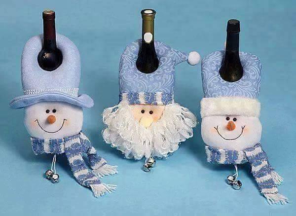 Moldes para hacer lindas manualidades navide as en fieltro for Figuras de nieve navidenas