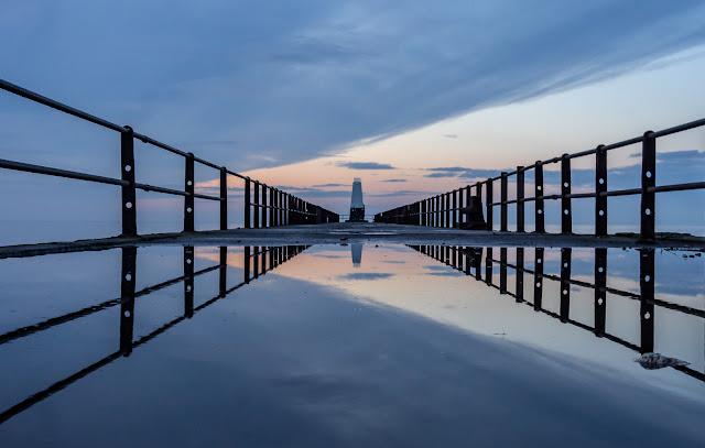 Photo of Maryport pier around sunset