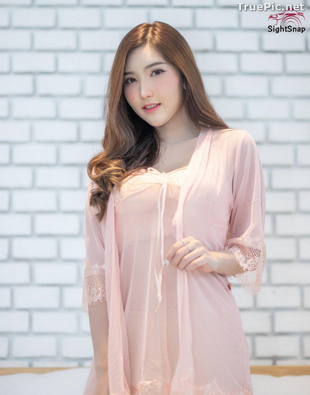 Image Thailand Model - Luc Kie - Nice Pink Love Night Dress - TruePic.net - Picture-1