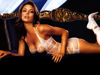 Deep Cleavage Show By Josie Maran On Couch
