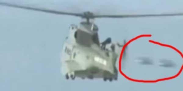Dua UFO Terbang Lewati Helikopter di Prancis?