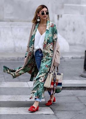 Kimono lungo foto di Pinterest