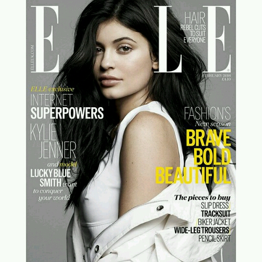 Kylie Jenner Stuns In The Elle UK Feb 2016 Issue