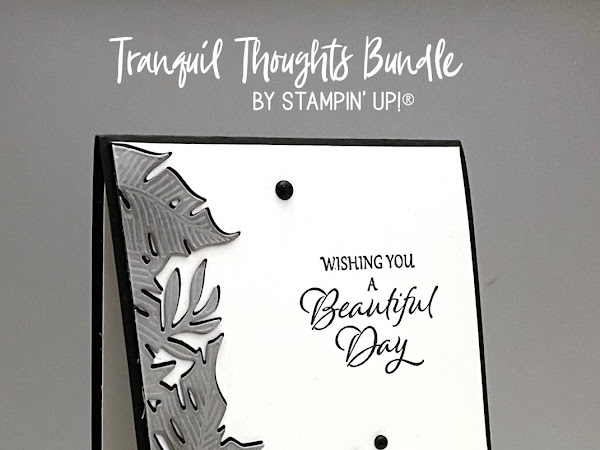 Monochrome Tranquil Thoughts Bundle Card