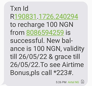 Picture of N100 airtime from mSurvey