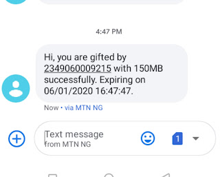 How to Activate Free 150MB Data on MTN By Registering on GidiMo