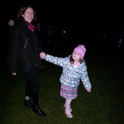 sasha dragging mum away by the hand