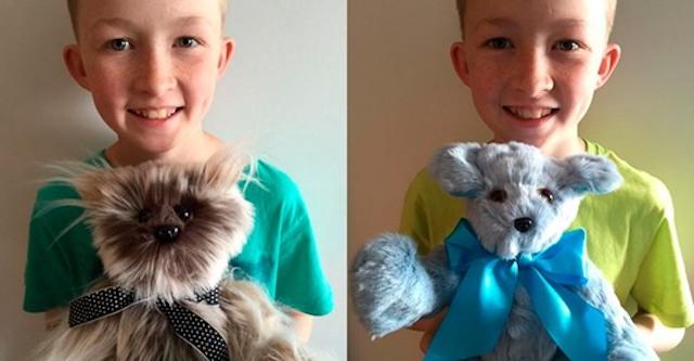 Мальчик с необычным хобби: ребенок шьет игрушки и дарит их больным детям