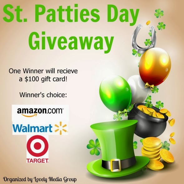 Enter the St. Patties Day Giveaway. Ends 3/23.